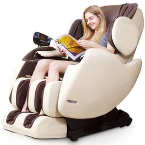 R Rothania Ospirit New Electric Full Body Shiatsu Massage Chair Recliner Straight I Track 3yr Warranty (Beige)