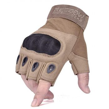 Reebow Gear military fingerless hard knuckle tactical gloves