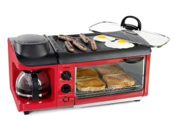 Nostalgia Retro 3-in-1 Family Size Breakfast Station