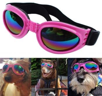 QUMY Dog Sunglasses Eye Wear Protection Waterproof Pet Goggles