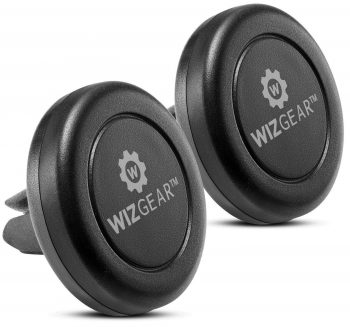 WizGear Universal Stick-On Dashboard Magnetic Car Mount Holder For Cell Phones and Mini-Tablets with Fast swift-snap Technology.