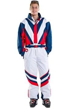 Men's Red White & Blue Freedom Ski Suit - High-Performance Patriotic Ski Suit