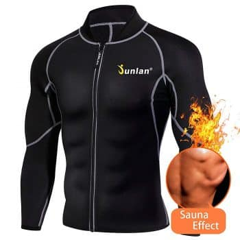 Men Sweat Neoprene Weight Loss Sauna Suit Workout Shirt Body Shaper Fitness Jacket Gym Top Clothes Shapewear Long Sleeve