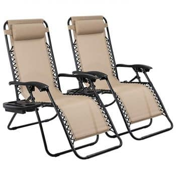 Devoko Patio Zero Gravity Chair Outdoor Adjustable Folding Lounge Chairs