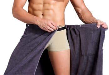 SanJL Wearable Bath Skirt Men Bath Towels Wrap Shower (Grey)