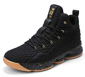 JIYE Women's Men's Fashion Basketball Shoes Wear Resistant Flyknit Sneakers