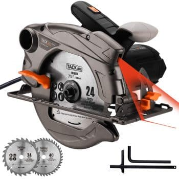 TACKLIFE Classic 1500W Circular Saw with Laser