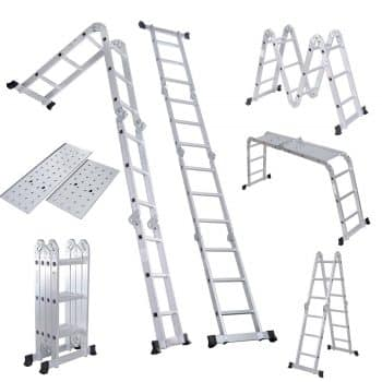 Folding Ladder Aluminum Folding Step Extension