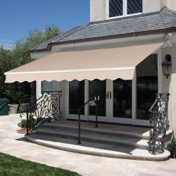 Best Choice Products 98x80in Retractable Aluminum Patio Deck Awning Cover