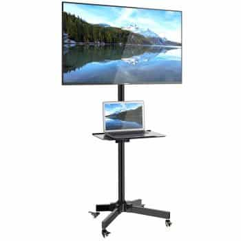 1home Mobile TV Cart Floor Stand Mount