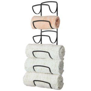 mDesign Modern Decorative six Level Bathroom Towel