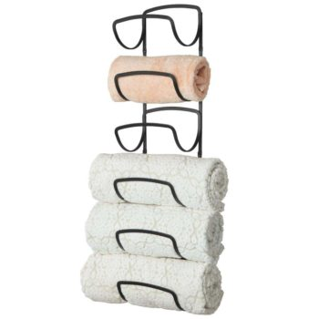 mDesign Modern Decorative six Level Bathroom Towel