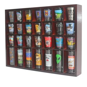 28 Shot Glass Shooter Display Case Holder Cabinet Rack