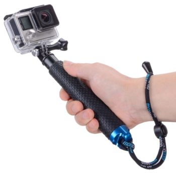"Vicdozia 19"" Waterproof Hand Grip Adjustable Extension Selfie Stick Handheld Monopod"