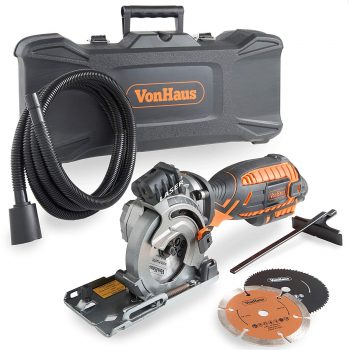 VonHaus 5.8 Amp Compact Circular Saw Kit with Laser Guide