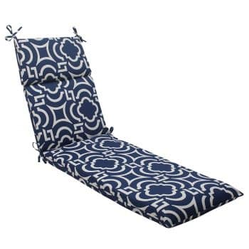 Pillow Perfect Carmody Chaise Lounge Cushion Navy
