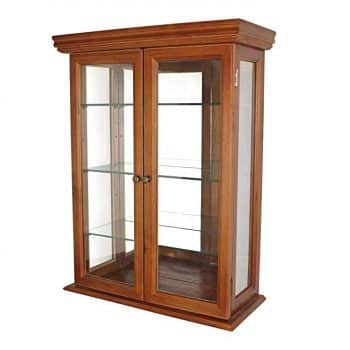 Design Toscano Country Tuscan Glass Wall Mounted Storage Curio Cabinet