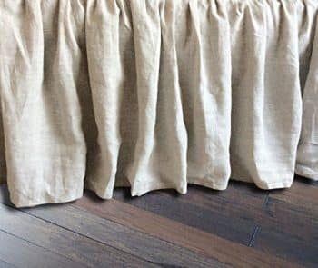 Linen Bedskirt Natural Linen Bed Skirt