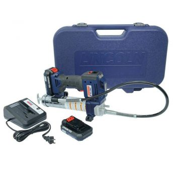 Lincoln 1884 20V Li-Ion PowerLuber Dual Battery Unit with Charger and Carrying Case