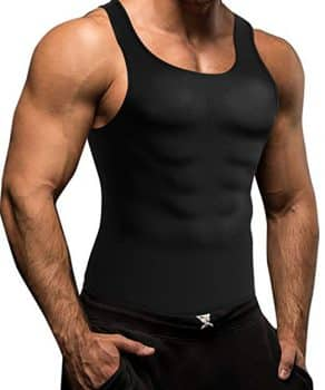 Men Waist Trainer Corset Vest for Weight Loss Hot Neoprene Body Shaper Tank Top Sauna Suit Shirt No Zip Trimmer