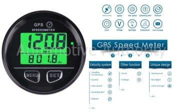 GPS Speedometer Gauge Odometer Battery Meter