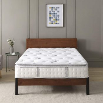 "Classic Brands Mercer Pillow Top Cool Gel Memory Foam and Innerspring Hybrid 12"" Mattress"