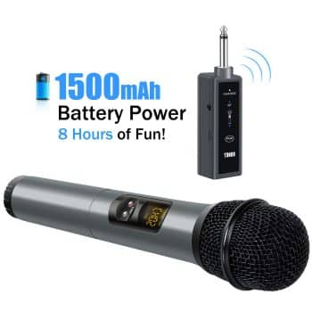 TOR UHF Wireless Microphone Handheld Mic with Bluetooth speaker
