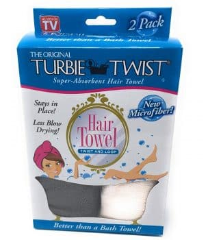 Turbie Twist Microfiber Hair Towel (2 Pack) Grey-Light Pink