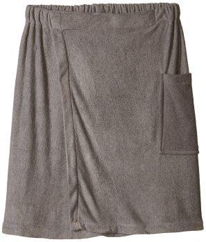 DII Men's Adjustable Microfiber Shower Wrap for Saunas