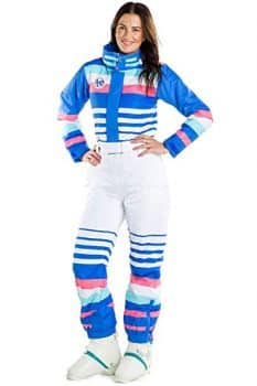 Tipsy Elves Women's ICY U 80's Ski Suit - Retro Inspired Snow Suit for Female