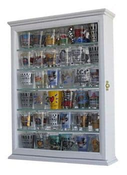 Shot Glass Display Case Wall Curio Cabinet