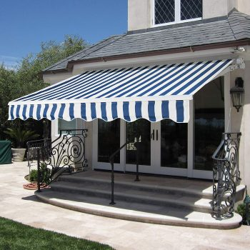 Best Choice Products BCP Patio Manual Patio 8.2'x6.5' Retractable Deck Awning Sunshade Shelter Canopy