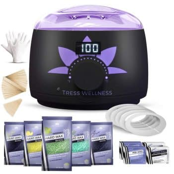 Home Waxing Kit Wax Warmer Hair Removal Waxing Kit - Professional at Home Waxing Kit - Wax Machine for Body Wax - Hard Wax Kit Wax Pot - Waxing Pot Brazilian Wax