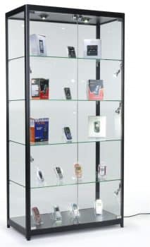 Displays2go Tempered Glass Curio Cabinet