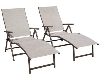 Kozyard Cozy Aluminum Beach Yard Pool Adjustable Chaise Lounge