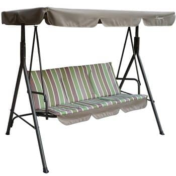 Kozyard Alicia Patio Swing Chair with 3 Comfortable Cushion Seats