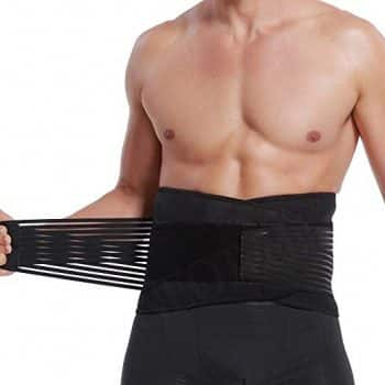 Lumbar Support with Double Banded Strong Compression Pull Straps, Breathable Waist