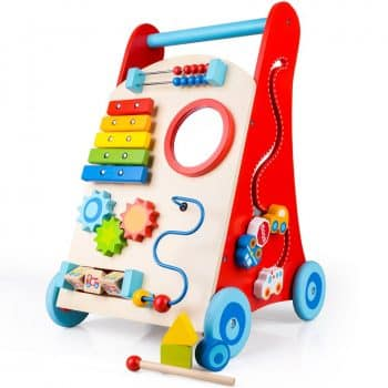 cossy Wooden Baby Walker Toddler Toys for 18 Month