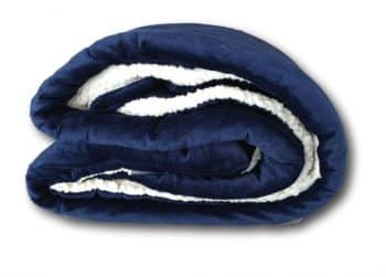 "Tache Dark Navy Blue Warm Super Soft Sherpa Winter Night Micro Fleece Throw Blanket 50"" x 60."""