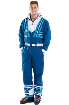 Men's Blue Bomber Retro Ski Suit - Vintage Inspired Ski Suit