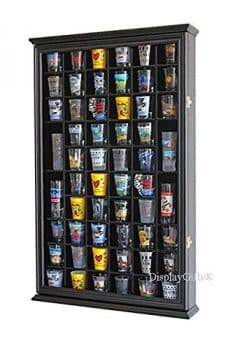 56 Shot Glass Shooter Display Case Holder Cabinet Wall Rack w