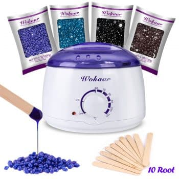 Wokaar Wax Warmer Kit Hair Removals Painless Waxing at Home Hot Wax Heater for Face