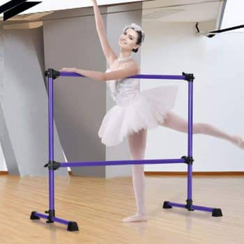 Costzon Portable Ballet Barre Freestanding for Dancing Stretching Ballet Workout Exercise Equipment Easy Assembly Sturdy & Stable Construction Double Dance Bar