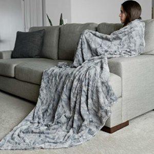 "GRACED SOFT LUXURIES Oversized Softest Warm Elegant Cozy Faux Fur Home Throw Blanket 60"" x 80"""