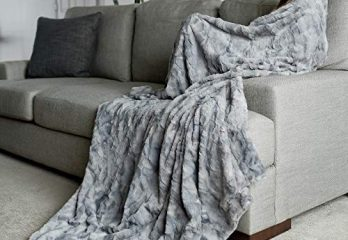 "GRACED SOFT LUXURIES Oversized Softest Warm Elegant Cozy Faux Fur Home Throw Blanket 60"" x 80"""
