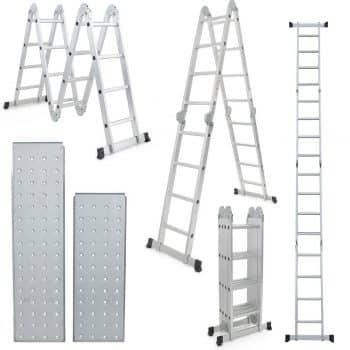 Multi-Purpose Aluminum Folding Step Ladder