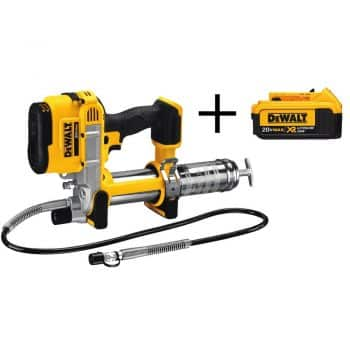 DEWALT 20-Volt MAX Lithium Ion Cordless Grease Gun (Tool-Only) with Bonus XR 4.0 Ahr Battery Pack