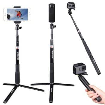 "Smatree Extendable Selfie Stick 36.6"" with Tripod Stand"