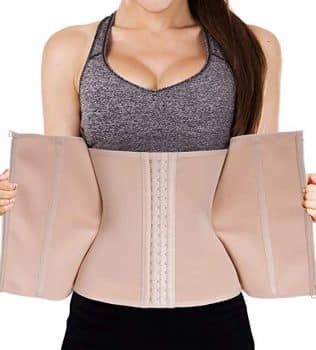 LODAY Waist Trainer Corset for Weight Loss Tummy Control Sport Workout Body Shaper Black