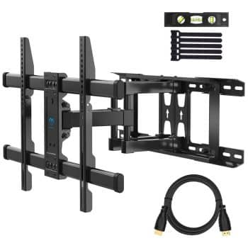 PERLESMITH Full Motion Dual Arm TV Wall Mount